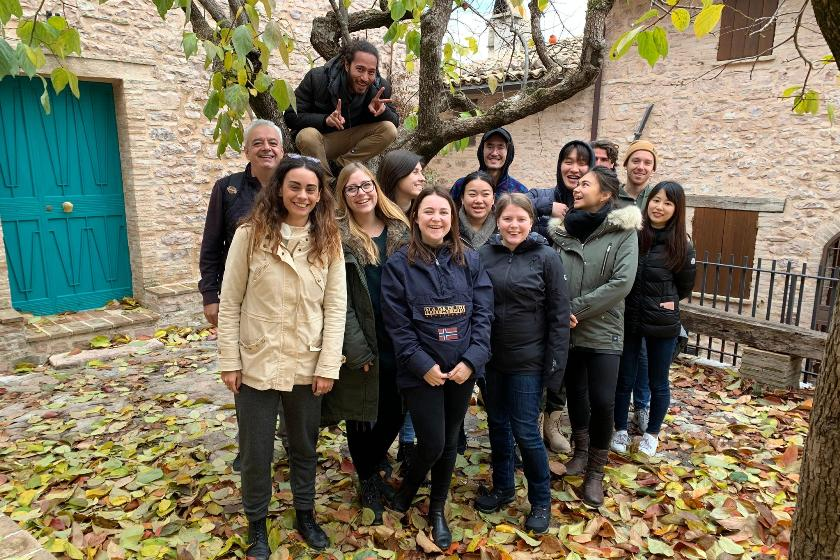 students of EHL campus passugg on a truffle excursion in Italy