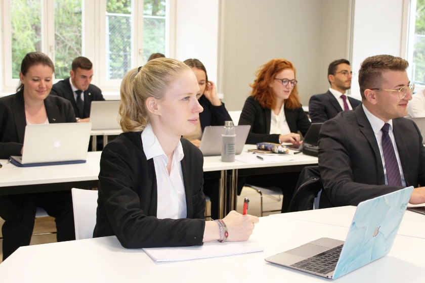 EHL Bachelor students studying at SSTH Campus Passugg